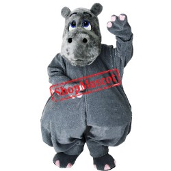 Grey Lightweight Hippo Mascot Costume