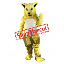 Yellow Fierce Wild Cat Mascot Costume