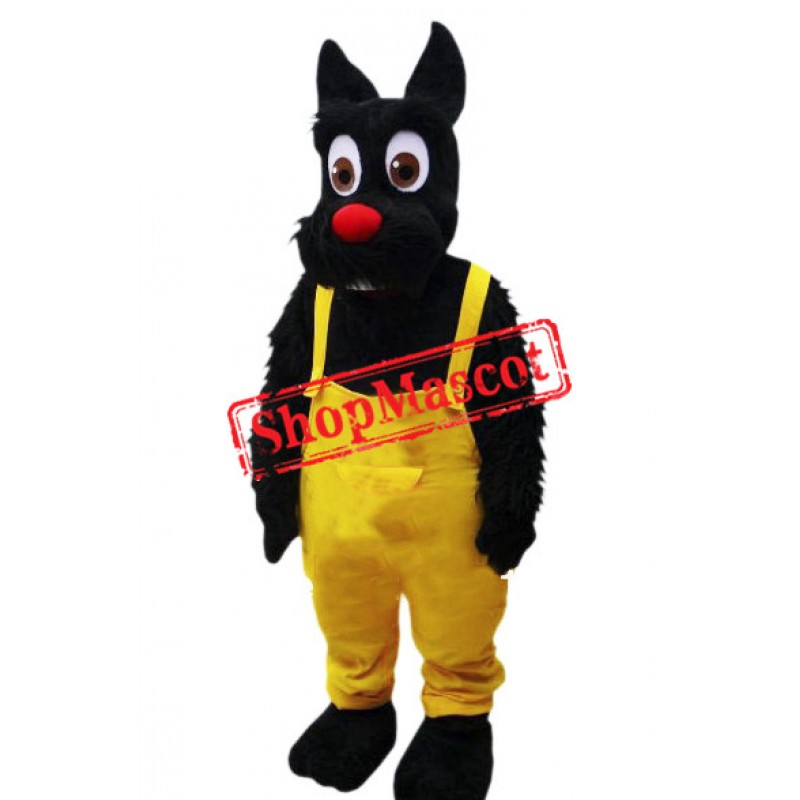 Big Eye Black Dog Mascot Costume