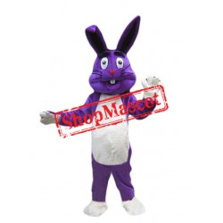 Purple Easter Bunny Mascot Costume