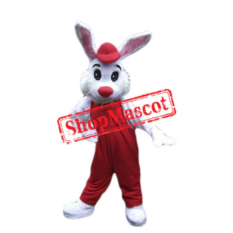 Lovely White Bunny Mascot Costume