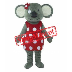 Cute Girl Koala Mascot Costume