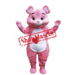 Cute Lightweight Pink Bear Mascot Costume