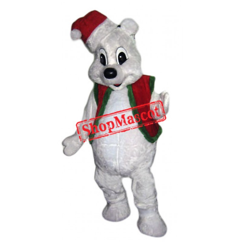 Christmas White Bear Mascot Costume