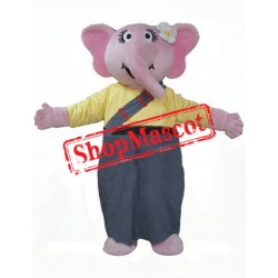 Girl Elephant Mascot Costume