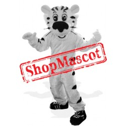 Sport Lightweight White Tiger Mascot Costume