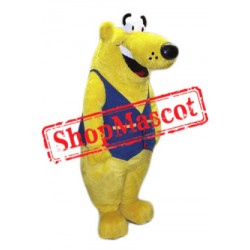 Big Yellow Bear Mascot Costume