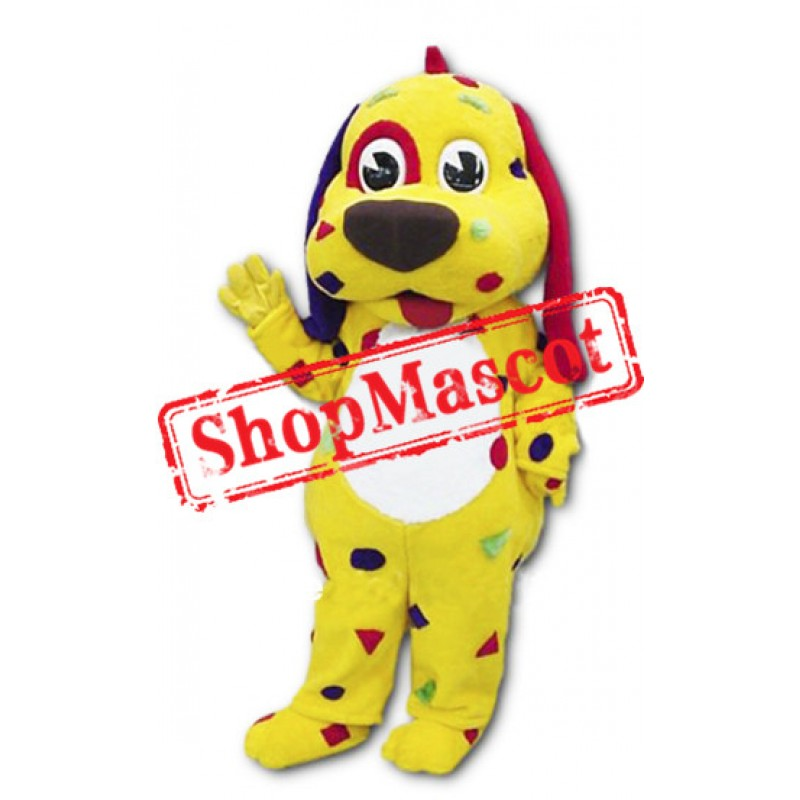 Yellow Dog Puppy Mascot Costume
