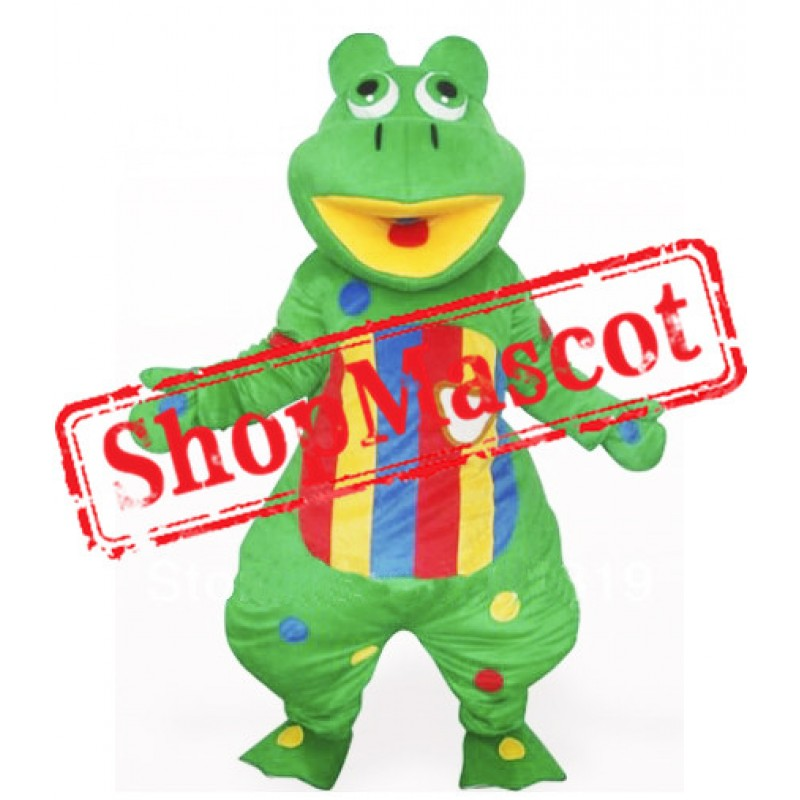 Lovely Green Frog Mascot Costume