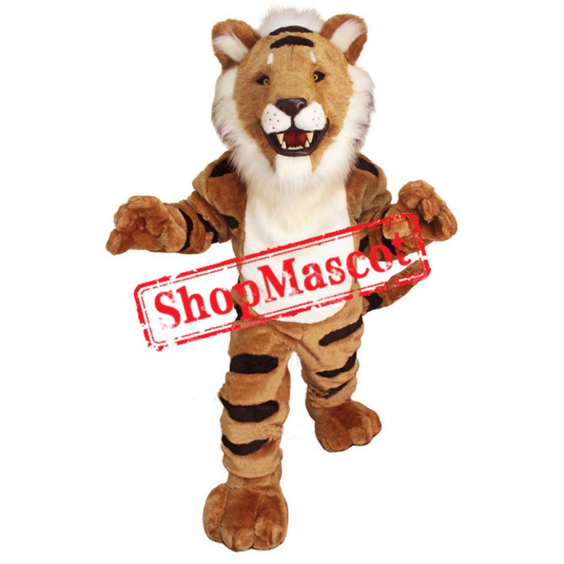 Striped Tiger Mascot Costume