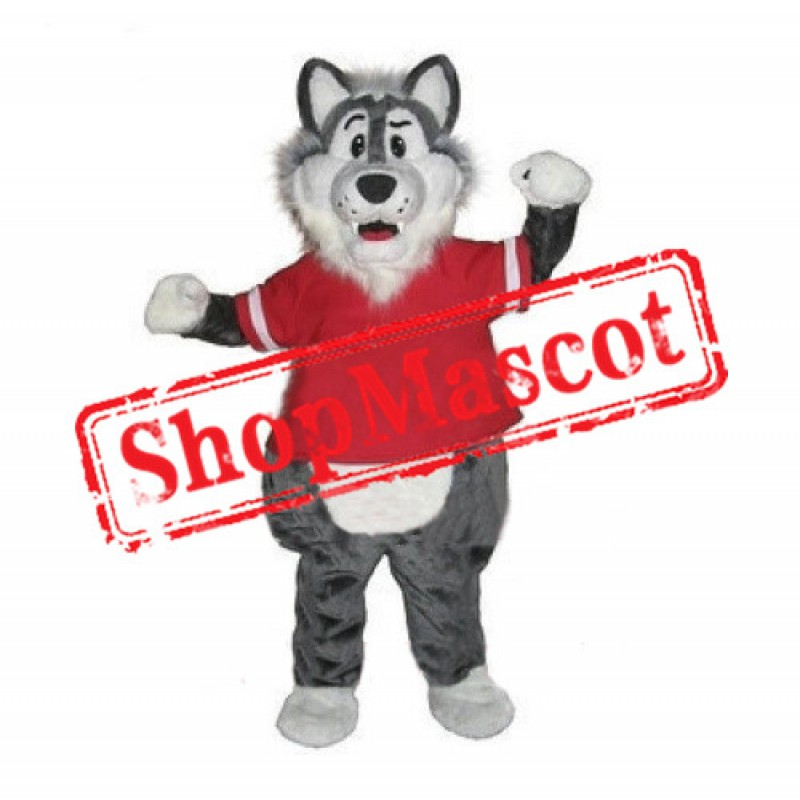 Lovely Grey Wolf  Mascot Costume