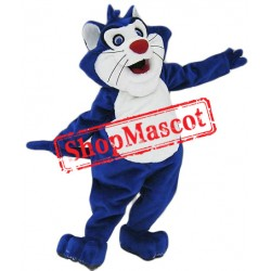 Blue & White Cat Mascot Costume