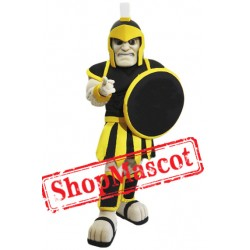 Black & Yellow Trojan Warrior Mascot Costume