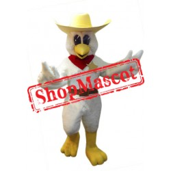 Cowboy Chicken Mascot Costume