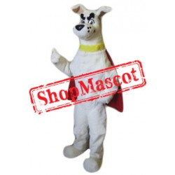 Super White Dog Mascot Costume