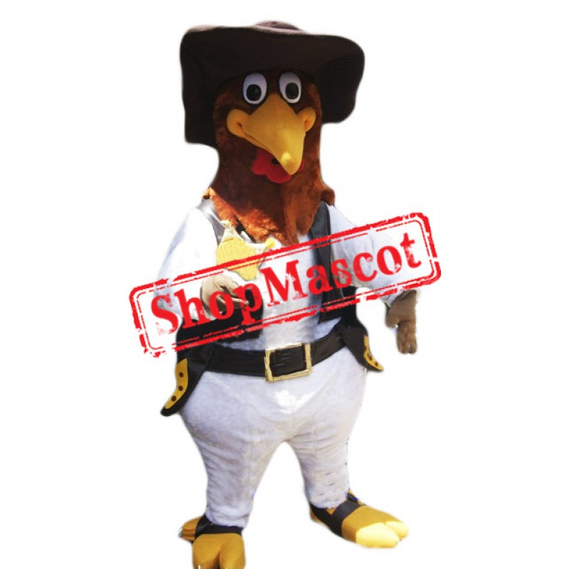 Police Rooster Mascot Costume