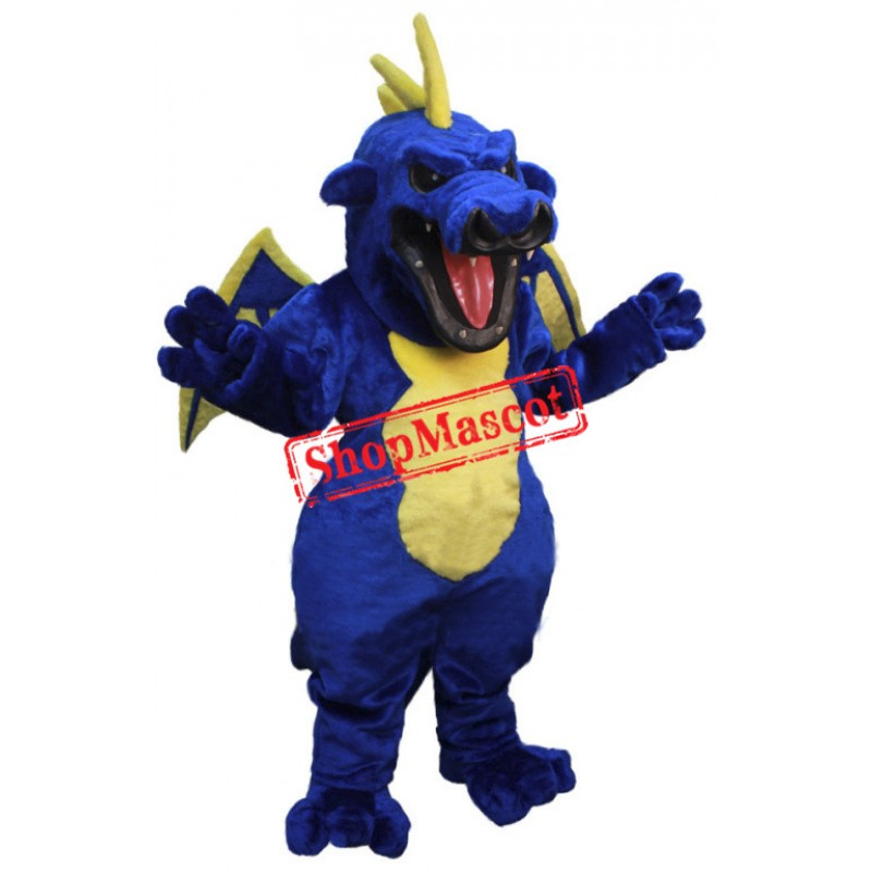 Fierce Blue Dragon Mascot Costume
