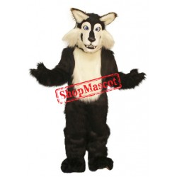 Black & White Wolf Mascot Costume Free Shipping