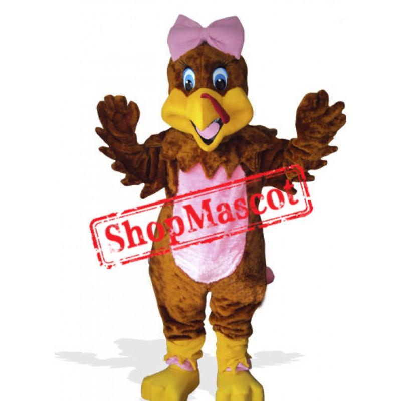 Girl Turkey Mascot Costume