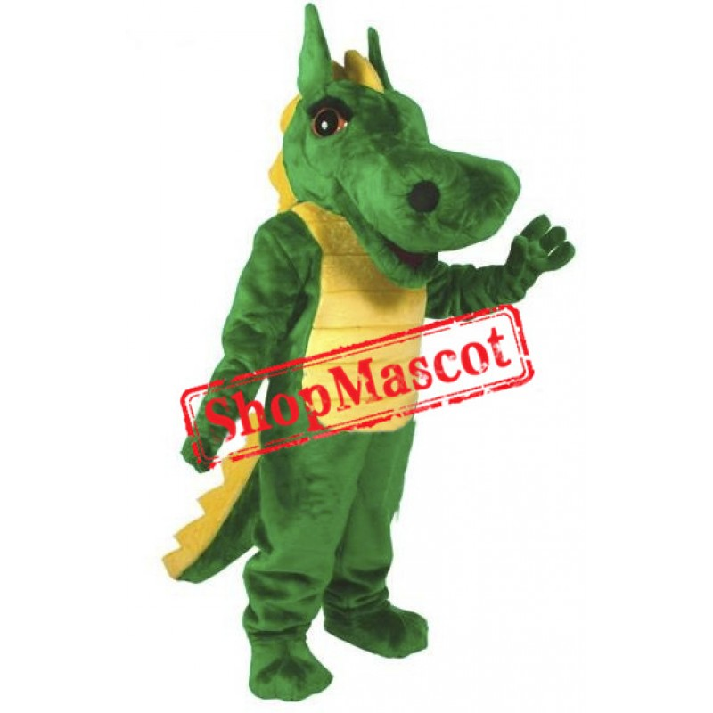 Big Green Dragon Mascot Costume