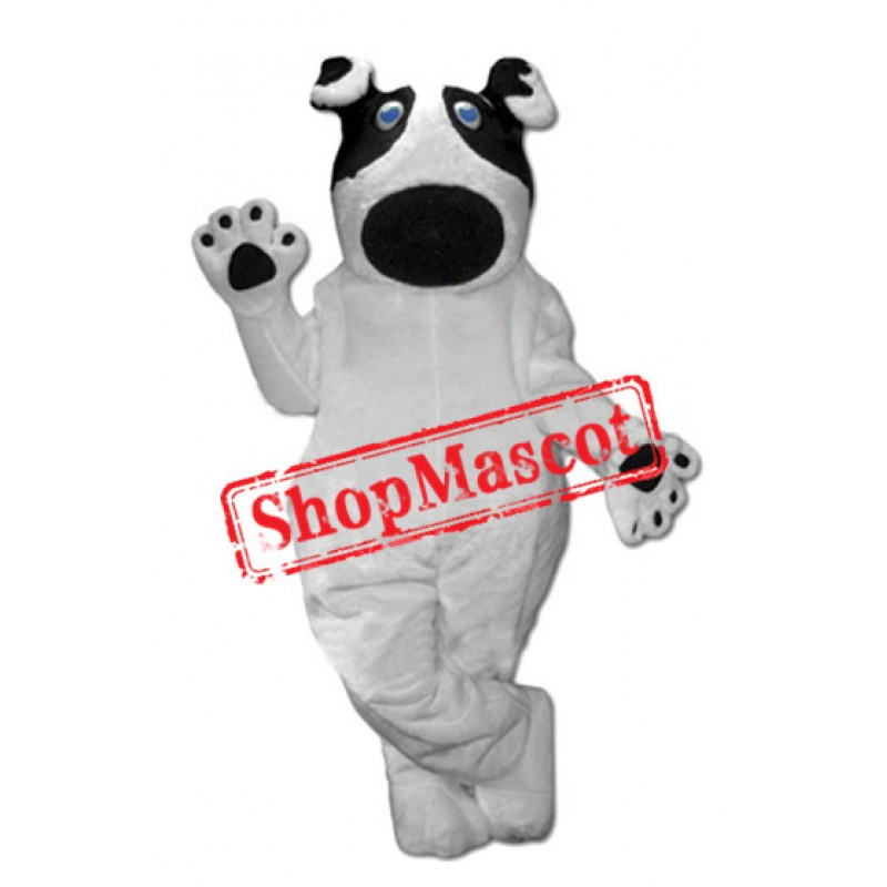 Lovely White Dog Mascot Costume