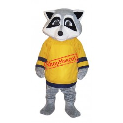 College Raccoon Mascot Costume Free Shipping