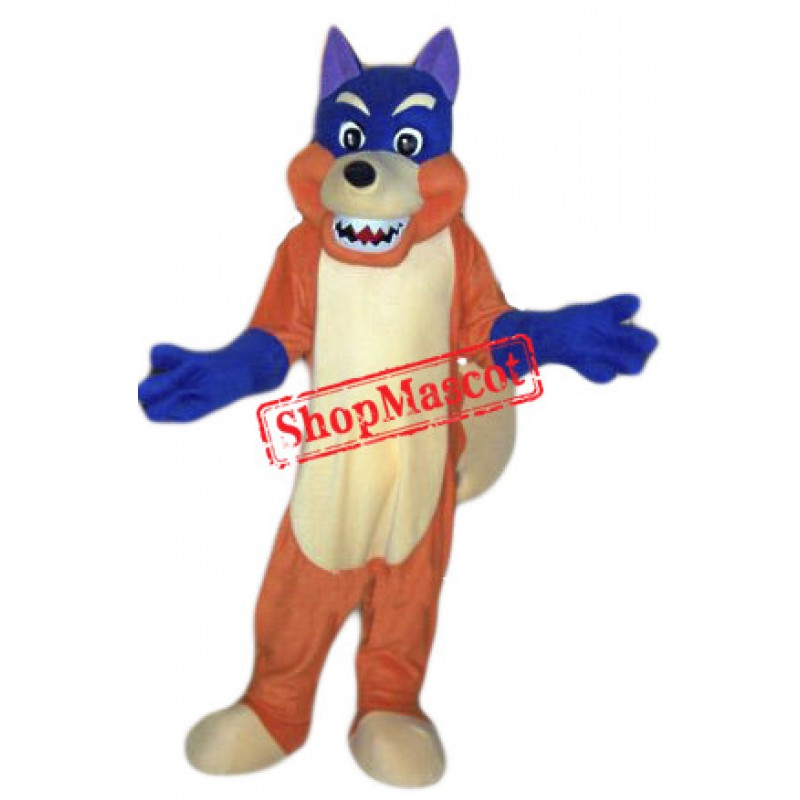Blue Fox Mascot Costume