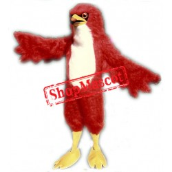 Fierce Red Hawk Mascot Costume
