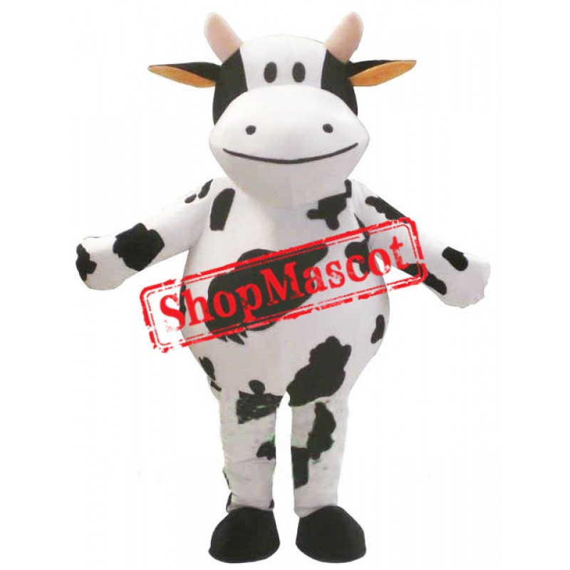 Cute Fat Cow Mascot Costume