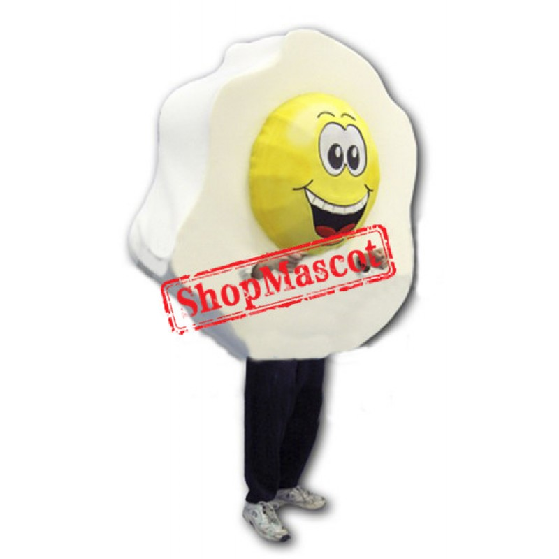 Big Fried Egg Mascot Costume