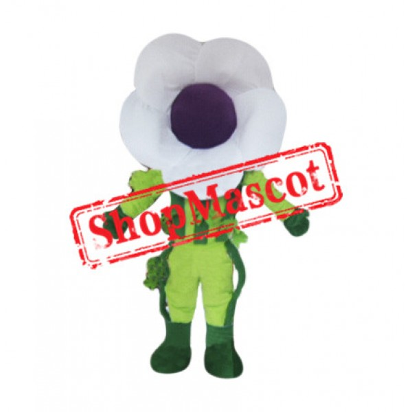 White Morning Glory Mascot Costume