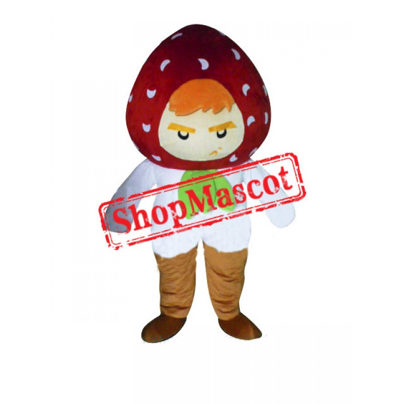Strawberry Boy Mascot Costume