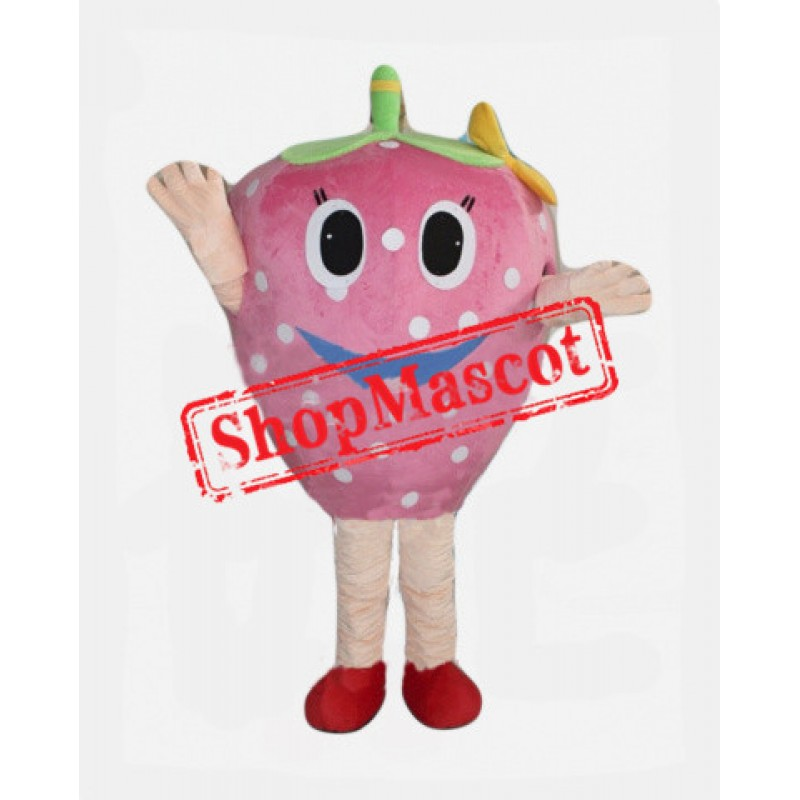 Pink Strawberry Mascot Costume
