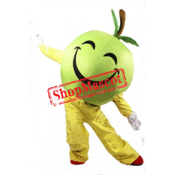 Happy Green Apple Mascot Costume