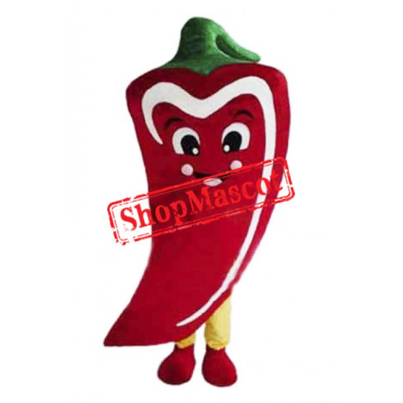 Red Chili Mascot Costume