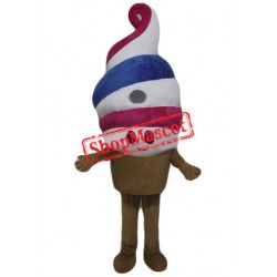 Happy Ice Cream Mascot Costume