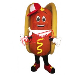 Happy Lightweight Hot Dog Mascot Costume