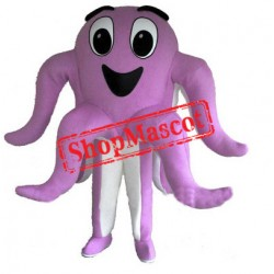 Happy Pink Octopus Mascot Costume