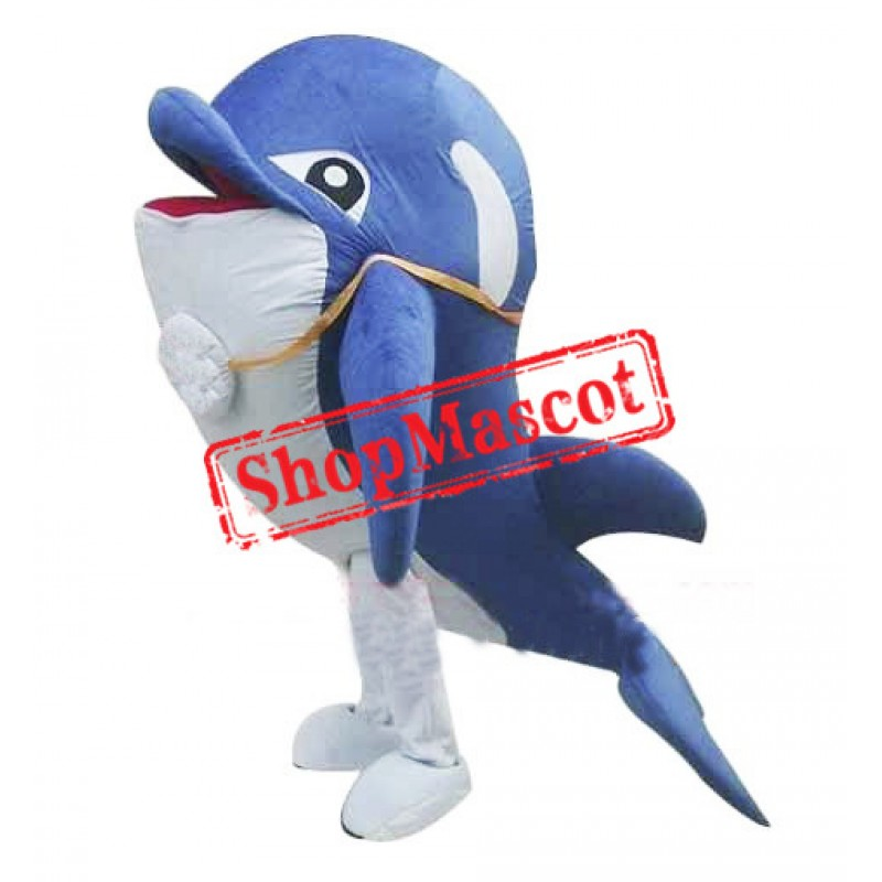 Cheap Blue Dolphin Mascot Costume