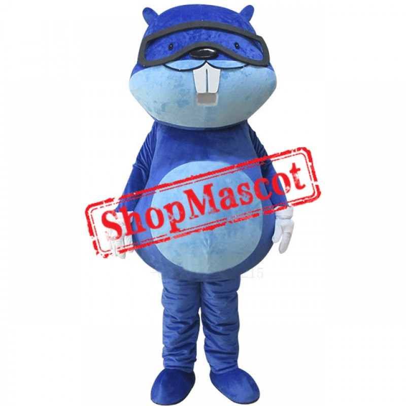 Cheap Blue Beaver Mascot Costume