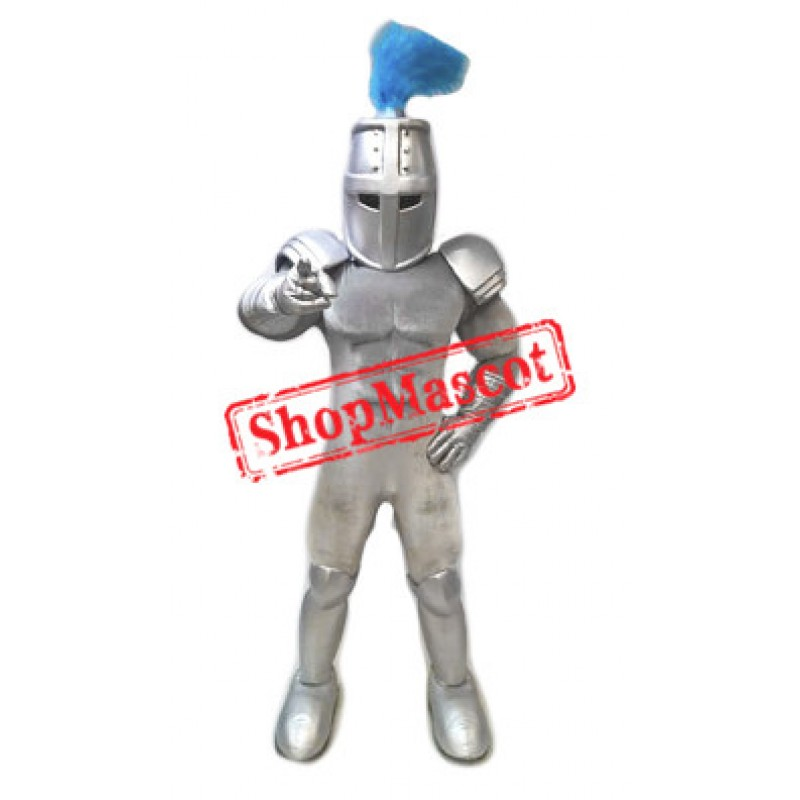 Power Silver Knight Mascot Costume
