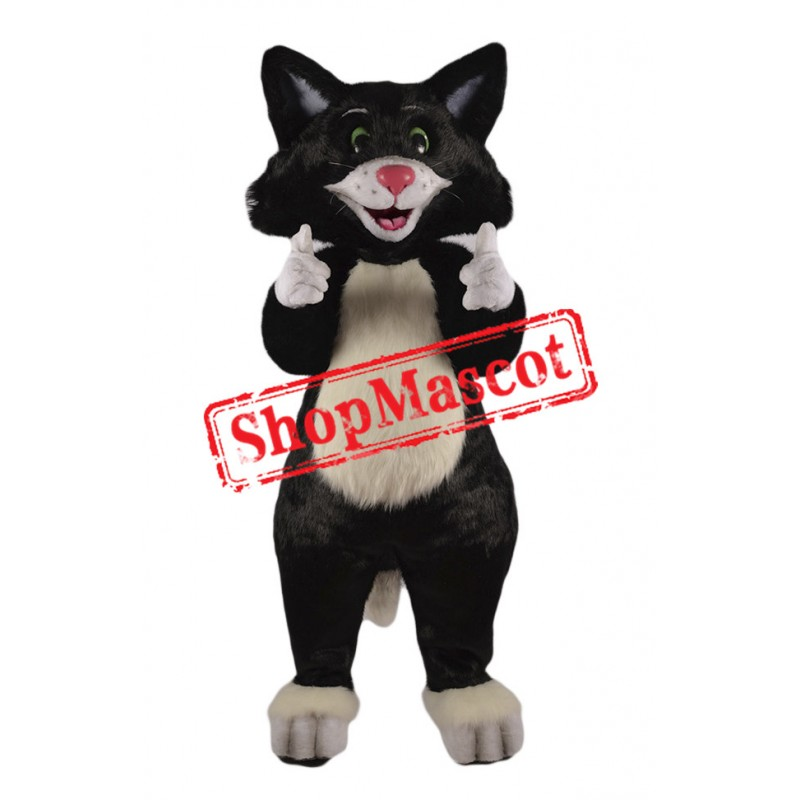 Happy Black Cat Mascot Costume