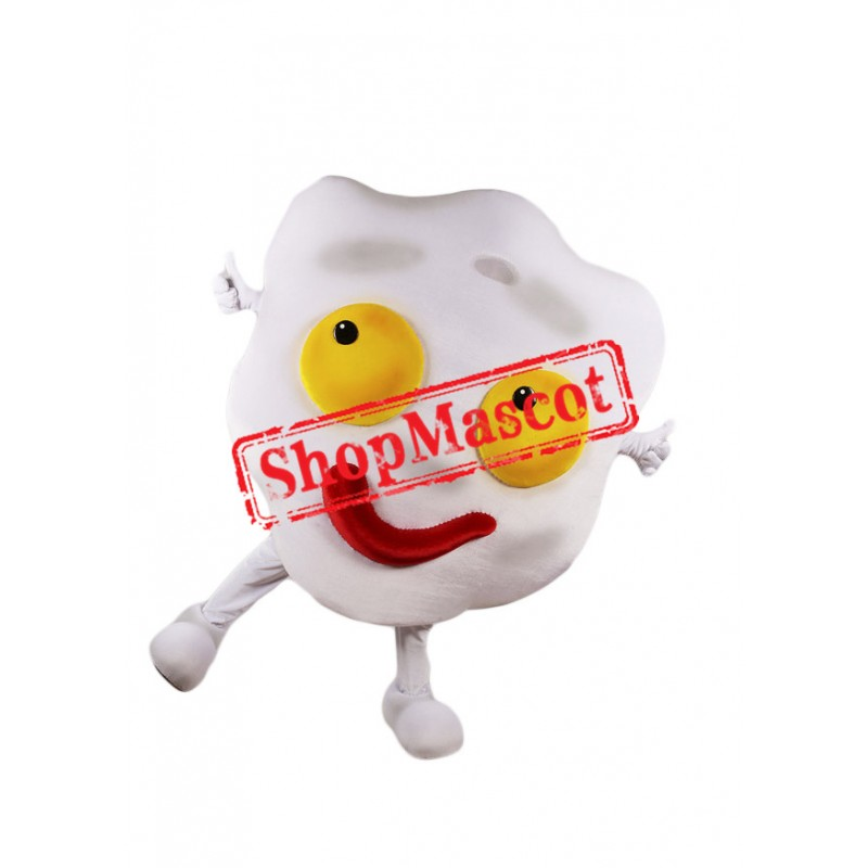 Fried Egg Mascot Costume