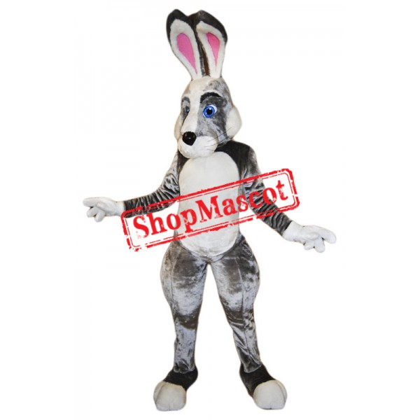 Black White Pink Rabbit Mascot Costume