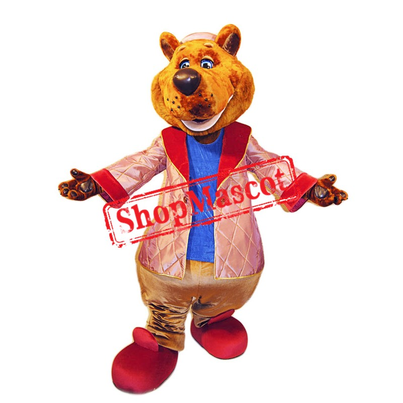 Smiling Lightweight Bear Mascot Costume