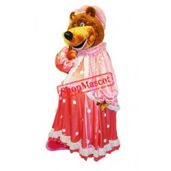 Cute Female bear Mascot Costume