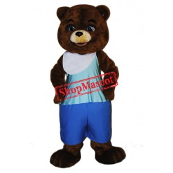 Footballer Bear Mascot Costume