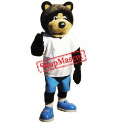 Cute Sport Brown Bear Mascot Costume