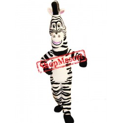 Happy Lightweight Zebra Mascot Costume