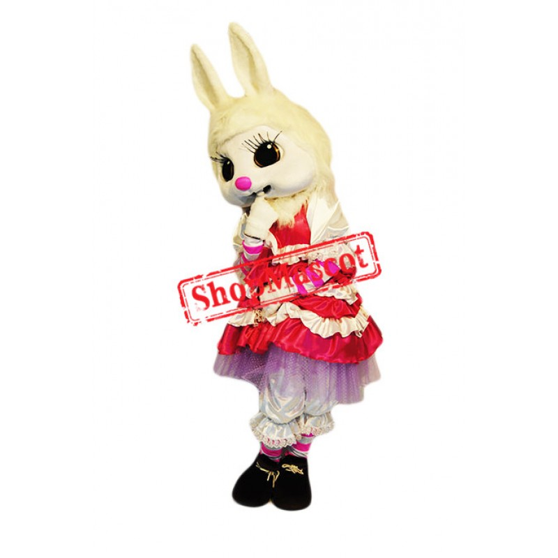 Fashion White Rabbit Mascot Costume